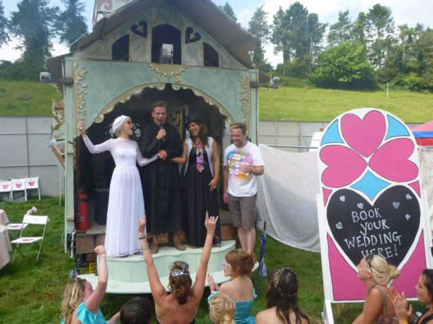Boom Town Wedding Chapel in action