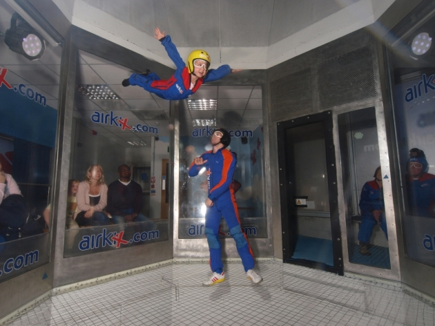 Proud moment - My 5 year old daughter realising her dream of flying at Airkix in Milton Keynes!