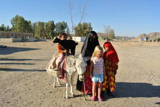 A Bedouin Family with my 5 year old daughter
