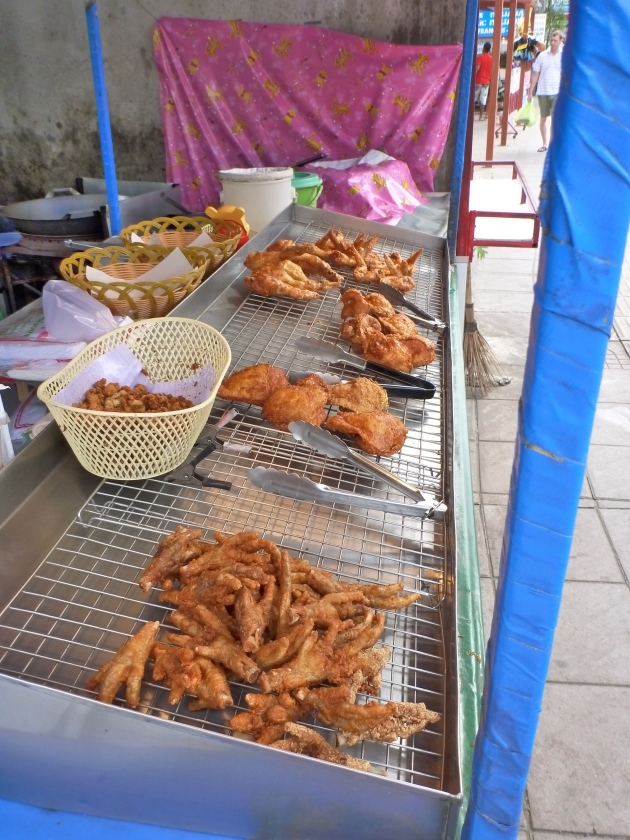 Fried Chicken Feet at a Food Stall