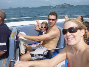 bouncing along on the speed boat to Phi Phi