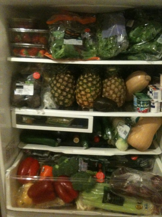 My Fridge after my 7lbs in 7 days shop