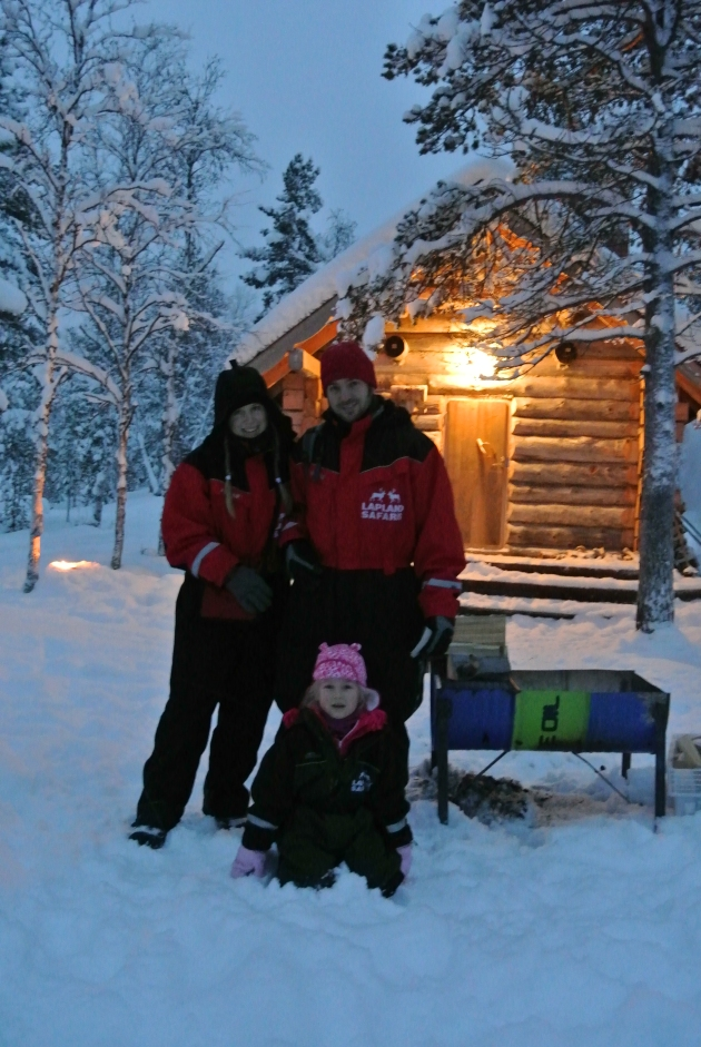 My Family and I, standing outside Santa's little Cabin.