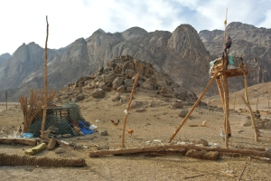 A Bedouin Well. Bedouins favour traditional tools