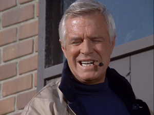 "Colonel John ""Hannibal"" Smith  from The A Team, smoking a cigar"