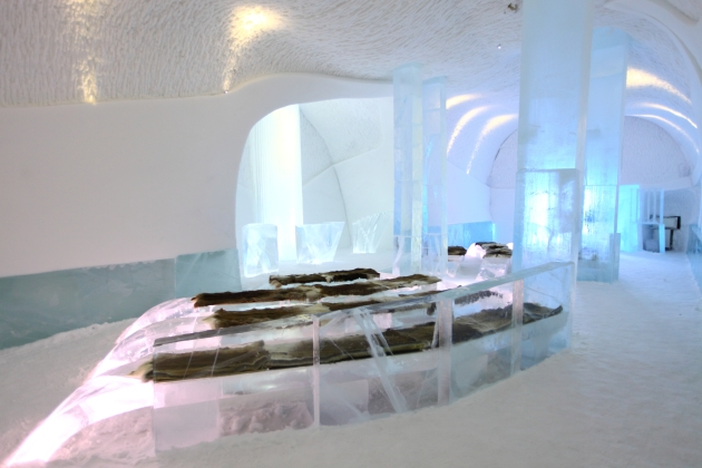 Inside the Ice Church, ICEHOTEL Sweden