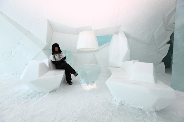 Me sat in the 'ICEHOTEL 23' Seating area.