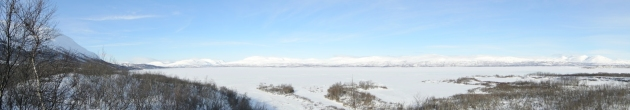 Panoramic Shot of the Lake at Abisko National Park