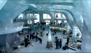 Ice Palace Foyer and bar from the movie Die Another Day
