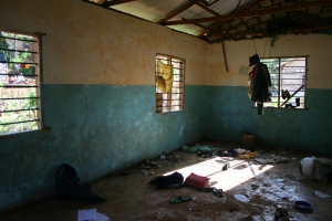 Dormitory after beds are taken out in the old Orphanage block